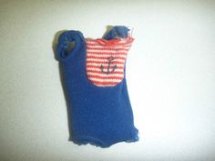 Vintage Barbie Doll SKIPPER Anchor Swimsuit NICE Strong Anchor on front ! Swim