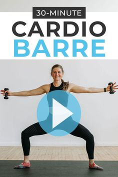 30 Minute Workout Video, Barre Workout Video, Barre Exercises At Home, 30 Minute Cardio, Youtube Workout, Workout Videos, Barre Workouts, Body Workouts, Cardio Yoga