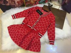 Gucci Baby Clothes, Luxury Baby Clothes, Designer Baby Clothes, Baby Kids Clothes, Cute Baby Girl Outfits, Little Girl Dresses, Kids Outfits, Cute Kids Fashion, Baby Girl Fashion
