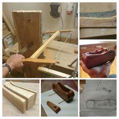 Ein selbstgemachter Einhandhobel aus Apfelholz aus der Region und einer Hobelsohle aus gereucherter Eiche mit Messing Beschlägen   --> Komplett ohne Strom gefertigt wie vor Hundert Jahren, ja gut die Löcher habe ich mit der Ständerbohrmaschiene gebohrt und die Messing Beschläge habe ich auf der Drehbank gemacht Messing, Cutting Board, Tools, Lathe Chuck, Oak Tree, Homemade, Instruments, Cutting Boards