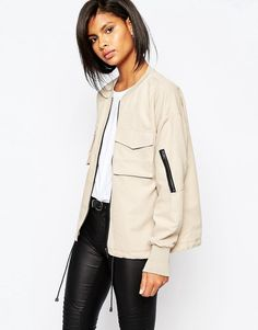 Vila Oversized Bomber Jacket save by Antonella B. Rossi Instyle Clothing b735d50d56d