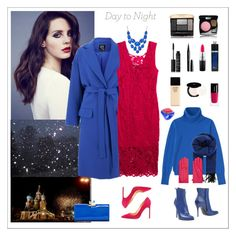 """Day to night, pink & blue"" by rara-nataliya ❤ liked on Polyvore featuring McQ by Alexander McQueen, Ted Baker, MAC Cosmetics, Guerlain, NARS Cosmetics, Marc Jacobs, Shiseido, H&M, Space Style Concept and Uniqlo"