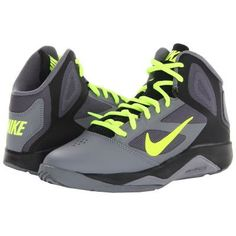 Nike Kids Dual Fusion BB 2 Boys Shoes - Cool Grey/Black/Volt