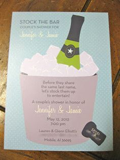 stock the bar shower...smart! bachelor & bachelorette party at one time.