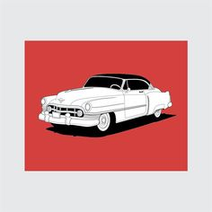 8x10 1950 Cadillac Series 61 Digital Print – Instant Download  This print is very versatile. Add a fresh pop of color to a nursery, playroom,