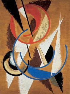 Space-Force Construction / 1921. Lyubov Sergeyevna Popova was a Russian avant-garde artist, painter and designer