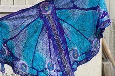 nuno felted butterfly jacket | Nuno felt Butterfly Shawl by MarjolainesTouch