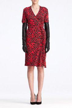 DVF Zalda Bis Dress in Tiger Eye Red, Fall 2012