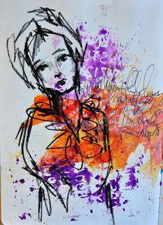 Visual journaling, mixed media art, and artsy scrapbooking. Kunstjournal Inspiration, Art Journal Inspiration, Painting Inspiration, Journal Ideas, Mixed Media Faces, Mixed Media Art, Mix Media, Art Journal Pages, Art Journaling