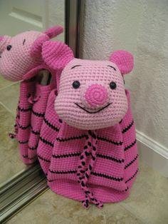 Piglet crochet backpack for kids by MadeByLawan on Etsy