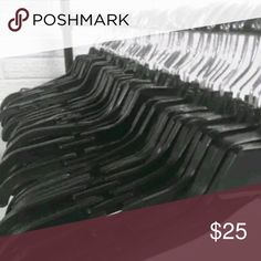 """50 Commercial Plastic Hangers These hangers are overstock from macys  All about 17""""  Some may me different style but they are all very similar Accessories"""