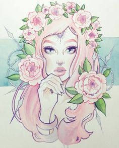 maybe try this in black and white minus the large lower flowers. practice with hands and flowers