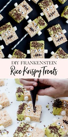 Halloween is almost here! It's time to start dreaming up costumes, parties and treats for all of the fun that is just Diy Halloween Desserts, Halloween Treats, Halloween Party, Desserts Diy, Halloween Foods, Halloween Games, Halloween Cupcakes, Rice Krispie Treats, Rice Krispies