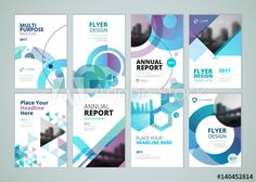 Brochure, annual report, flyer design templates in size. Set of vector illustrations for business presentation, business paper, corporate document cover and layout template designs. - Buy this stock vector and explore similar vectors at Adobe Stock Flugblatt Design, Cover Design, Layout Design, Annual Report Covers, Annual Report Design, Annual Reports, Flyer Design Templates, Layout Template, Magazine Design