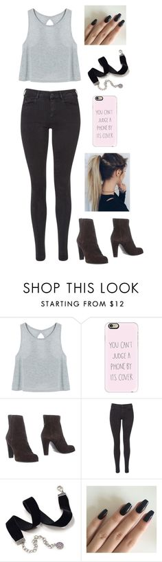 """""""Untitled #207"""" by blurryface1914 ❤ liked on Polyvore featuring Capelli New York, Casetify, Sergio Rossi, Maison Scotch and Sweet Romance"""