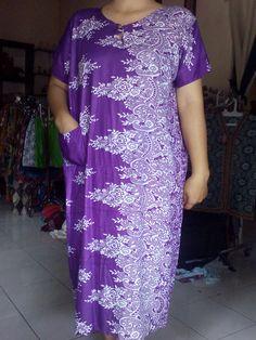 Daster Ibu Motif bunga/ungu Rp22.000