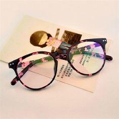 Clássico Da Moda Senhora Óculos de Armação de óculos Retro Rotundity  Resistir À Fadiga Simples Impressão fce1e855dd