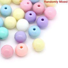 DoreenBeads Acrylic Spacer Beads Round Pastel At Random Color 6mm Dia,Hole:Approx 1.5mm,150PCs 2015 new