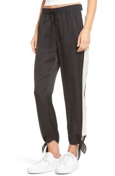 5e22b7156959b6 Socialite Socialite Ankle Tie Track Pants available at #Nordstrom White  Women, Junior Outfits,