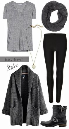 My favourite style of autumn outfit. Biker boots, black leggings and an oversized cardigan. So versatile can be dressed up for office casual or worn out and about