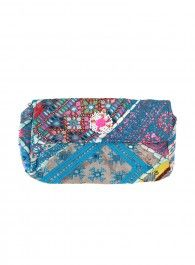 Embroidered Snap Clutch