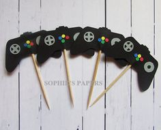 Game Controller Toppers Video game Cupcake by SophiesPapers