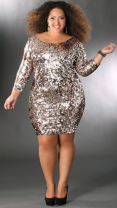 27 Plus Size Sequin Dresses {with Sleeves | For women, Sleeve and ...