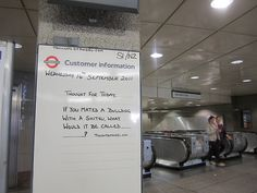 Angel Tube Thought of the Day - 14th September 2011 by Annie Mole, via Flickr