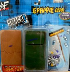 Amazon.com: WWE WWF Wrestling Smackdown Ring Grapple Gear GAME OVER: Breakaway Table, Refrigerator, Broom, Soda Cans & Dart Board w/Darts by Jakks: Toys & Games Wrestling Superstars, Wwe Game, Wwe Belts, Wwe Toys, Wwe Action Figures, Dart Board, John Cena, Darts, Lucha Libre