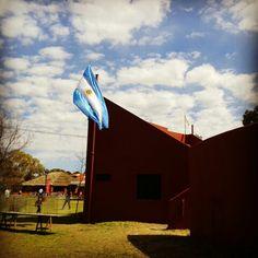 Alta en el Cielo #bandera #argentina #bahiablanca #VillaBordeu #farm #flag #campo #orgullo