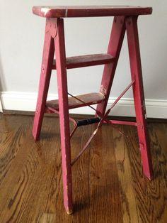 Vintage Wooden Step Ladder by 3vintage on Etsy