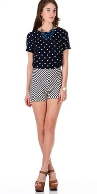 If you're looking to go retro, these are the shorts for you. Finish with a pretty red pout!