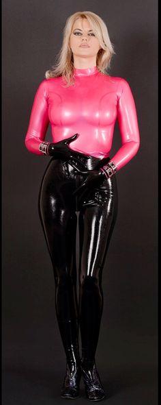Pink black latex, latex Veronica .
