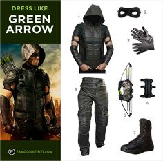 Dress like Stephen Amell from the TV show, Arrow. Get Oliver' Queen's Arrow costume by following this guide.