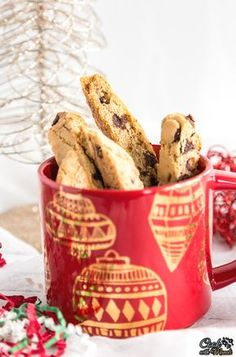 Homemade Orange Chocolate Chip Biscotti pair perfectly with your coffee and also make great Holiday gifts! Find the recipe on www.cookwithmanali.com