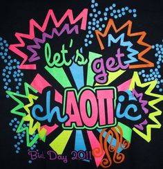 get chAOΠic ... alpha omicron pi