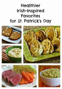Healthier Irish-Inspired Favorites For St. Patrick's Day; my personal favorites all collected in one spot. [from Kalyn's Kitchen] #LowCarb #LowGlycemic