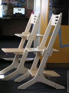 Детская ручной работы. Ярмарка Мастеров - ручная работа Детский «растущий» стул из фанеры. Handmade.