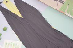 Exertion Dress: Grey x Lemon Lime
