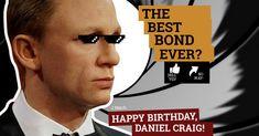 Best Bond, Daniel Craig, Pinterest Marketing, Happy Birthday, Good Things, Movie Posters, Happy Brithday, Urari La Multi Ani, Film Poster