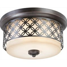 15-in Patina Bronze Ceiling Flush Mount, $186