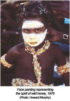 More Australian Aboriginal facepaint