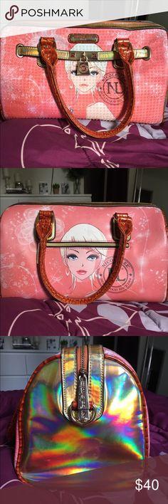Nicole Lee Erika Print Boston Handbag 💗🔥 Description Of Purse On Last Picture !!!! Nicole Lee Bags Satchels