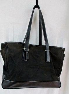 Auth COACH 5458 TOTE carryall shopper leather handbag diaper bag BLACK