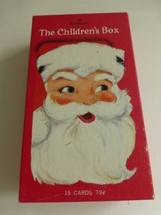 Vintage Box of Hallmark Children's Christmas Cards  15 Unused In Original Box by papertales on Etsy