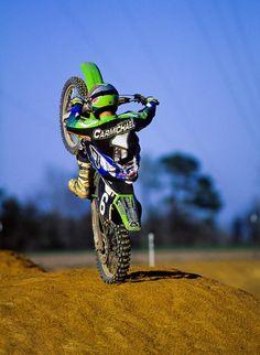 Weekend Vibes 🤘 Have a Great weekend everyone _ Dirt Bike Racing, Dirt Bike Girl, Mx Racing, Dirt Biking, Ricky Carmichael, Bike Freestyle, Kawasaki Bikes, Motocross Riders, Cycling Bikes
