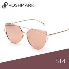 Rose Gold New Sunglasses Brand new Rose Gold Sunglasses. Mirror frame, super cute!  💋 SunglassJoy Accessories Sunglasses