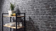 Briana Faux Brick Wallpaper in Beige and Brown design by BD Wall - 2