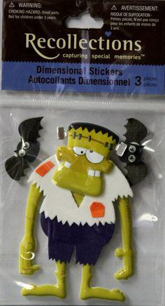 Recollections Halloween Frankenstein Dimensional Scrapbook Stickers