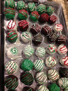 Decorating idea for Oreo balls for Christmas